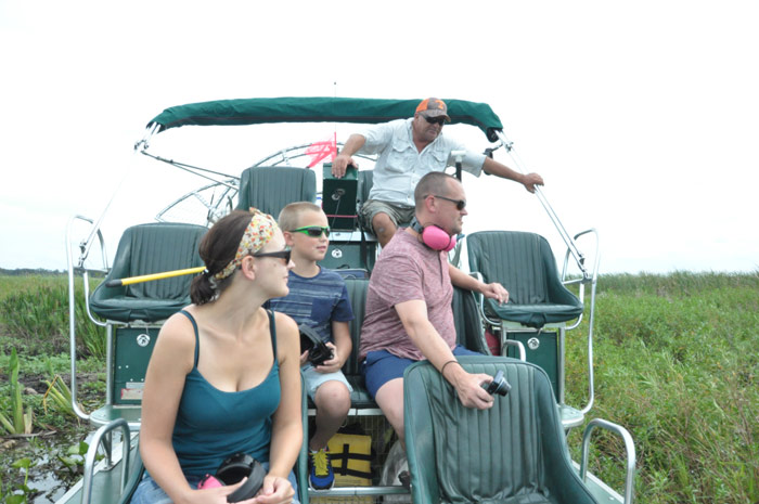 Sunshine, Educational, Exciting, Family and Kids + Airboating = Fun